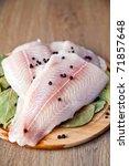 Close Up Raw Fish Pangasius...