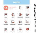 mmog   modern vector single... | Shutterstock .eps vector #718577149