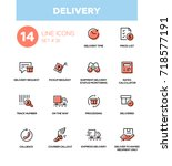 delivery   modern vector single ... | Shutterstock .eps vector #718577191