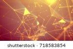 geek looking 3d illustrationof... | Shutterstock . vector #718583854