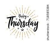 happy thursday   fireworks  ... | Shutterstock .eps vector #718585384