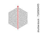 illustration of  maze labyrinth.... | Shutterstock . vector #718585495
