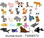 extra large set animals... | Shutterstock .eps vector #71858572
