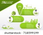 environmentally friendly world... | Shutterstock .eps vector #718599199