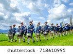 gaissach  germany   august 20 ... | Shutterstock . vector #718610995