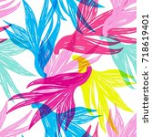 bright colorful hand drawn... | Shutterstock .eps vector #718619401