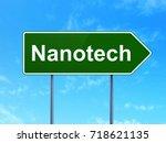 science concept  nanotech on... | Shutterstock . vector #718621135