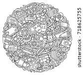 cartoon vector doodles cinema