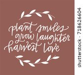 plant smiles  grow laughter ... | Shutterstock .eps vector #718626604