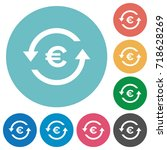 euro pay back flat white icons... | Shutterstock .eps vector #718628269