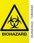 close up of a biohazard symbol... | Shutterstock . vector #71863663