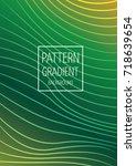 wave pattern gradient business... | Shutterstock .eps vector #718639654