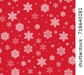christmas seamless pattern with ... | Shutterstock .eps vector #718640281
