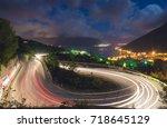 winding road in the montenegro... | Shutterstock . vector #718645129