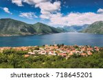 old historical village dobrota... | Shutterstock . vector #718645201