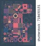vector minimal covers... | Shutterstock .eps vector #718650151