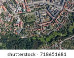 aerial view of the nysa city in ... | Shutterstock . vector #718651681