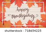 thanksgiving day. sale banner... | Shutterstock .eps vector #718654225