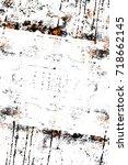 black white orange old... | Shutterstock . vector #718662145