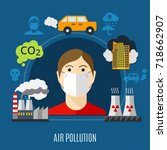 Air Pollution Concept With...