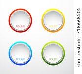 special round offer. vintage... | Shutterstock .eps vector #718668505