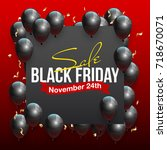 black friday sale beautiful... | Shutterstock .eps vector #718670071