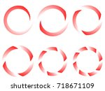 speed lines in circle form ....   Shutterstock .eps vector #718671109