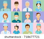 avatar doctors. medical staff   ... | Shutterstock .eps vector #718677721