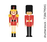 vector set of flat nutcrackers... | Shutterstock .eps vector #718679041
