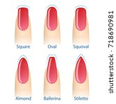 nail manicure  set of nails... | Shutterstock . vector #718690981