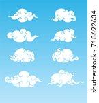 cloud style on sky   Shutterstock .eps vector #718692634