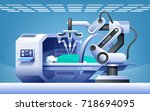 robots in medicine. innovative... | Shutterstock .eps vector #718694095