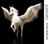 pegasus majestic mythical greek ... | Shutterstock . vector #718703575