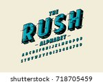 vector of stylized speedy font... | Shutterstock .eps vector #718705459