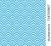 blue and white geometric... | Shutterstock .eps vector #718705807