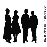 silhouette of people | Shutterstock .eps vector #718706989
