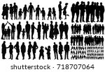 silhouette  people vector | Shutterstock .eps vector #718707064