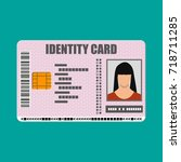 id card icon. identity card ... | Shutterstock .eps vector #718711285