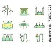 eco energy illustration set....   Shutterstock . vector #718714225