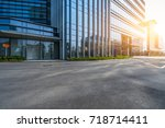 urban traffic road with... | Shutterstock . vector #718714411