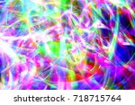 christmas lights in the motion... | Shutterstock . vector #718715764