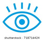 eye vector icon | Shutterstock .eps vector #718716424