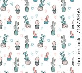 cactus seamless pattern. trendy ...