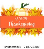 thanksgiving day card | Shutterstock . vector #718723201