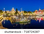 view of victoria inner harbour... | Shutterstock . vector #718724287