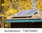 Solar Panels On The Roof Of A...