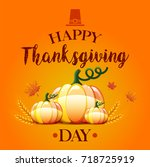 thanksgiving card | Shutterstock . vector #718725919