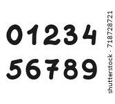 figures  numbers. set of... | Shutterstock .eps vector #718728721