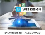 web design and development... | Shutterstock . vector #718729939