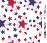 seamless patterns with american ... | Shutterstock .eps vector #718731367